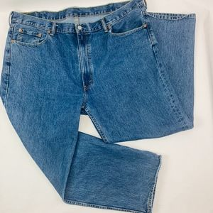 Levis 550 Mens Jeans 44x32 Blue Loose Fit Tapered